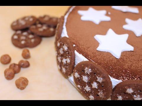 TORTA PAN DI STELLE con panna e Nutella ♥ VIDEORICETTA