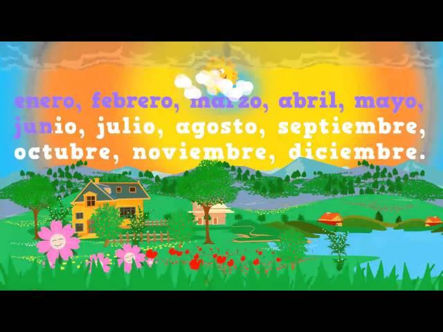 Months of the year in Spanish, los meses del año en español