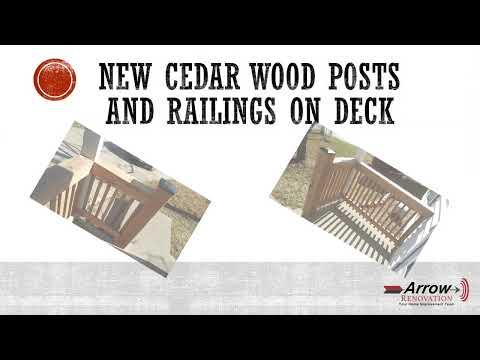 Cedar Wood Post & Railings Installed at Olathe, KS Home