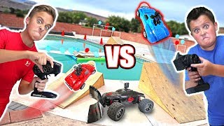 WILL IT DRIVE WITH INSANE MODS?! RC CAR DRIVING ON THE WATER & BALLOON POPPING MODS!