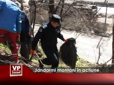 Jandarmi montani în acţiune