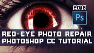 How to Remove/Fix Red Eye in Photos - Photoshop Tutorial