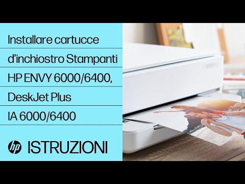 Come installare o sostituire le cartucce d'inchiostro nella stampante delle serie HP ENVY 6000/ENVY Pro 6400/DeskJet Plus Ink Advantage 6000/6400