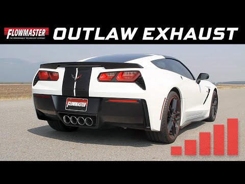 Flowmaster 817783 Sound-2014-2018 Corvette Exhaust System Axle-Back 409S-Outlaw Kit-DOR-Moderate Sound