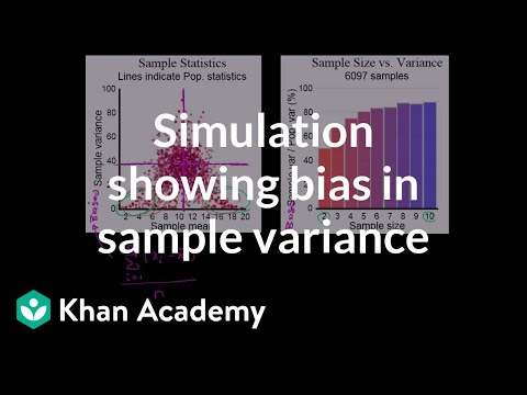 Simulation showing bias in sample variance (video) Khan Academy