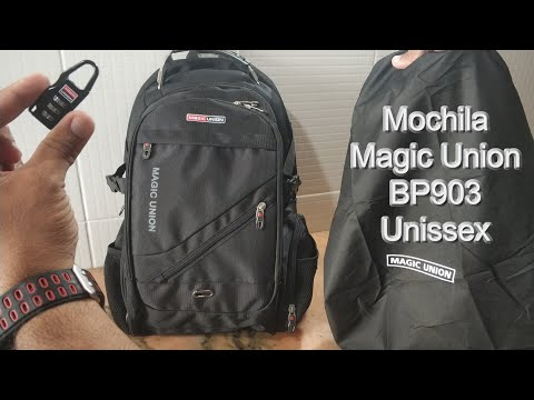 Mochila Magic Union BP903 Connection USB headphone padlock aliexpress