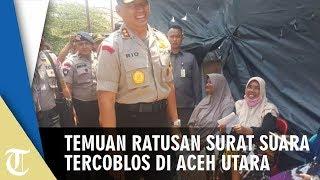 Ratusan Surat Suara Tercoblos di TPS Desa Jamuan Aceh Utara