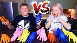 ТАЙНЫЕ ПЕРЧАТКИ СЛАЙМ ЧЕЛЛЕНДЖ 👀  Don't Choose the Wrong Glove Slime Challenge // ЛИЗУН