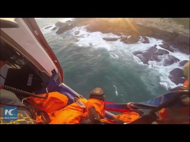 إنقاذ ستة صيادين بعد تعثرهم للوصول الى بر الأمان في الصين