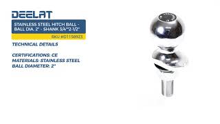 Stainless Steel Hitch Ball - Ball Dia. 2