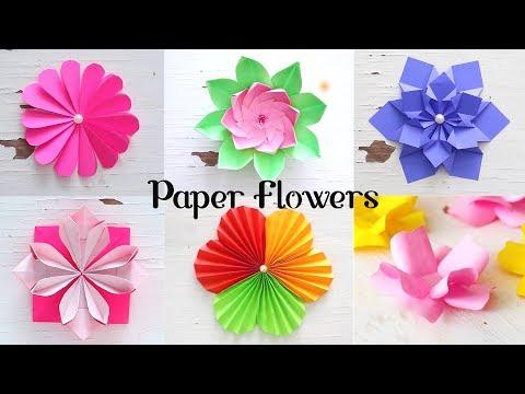 6 easy paper flowers flower making diy mightylinksfo