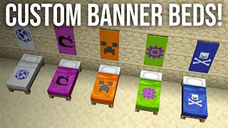 How To Get Custom Banner Beds In Minecraft Minecraftvideos Tv