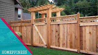 (LATEST DESIGN) 50+  Wood Fence Ideas 2017