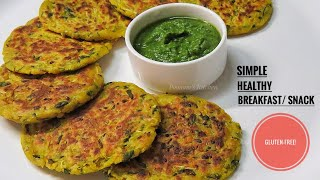 Simple Healthy No Aata No Maida Breakfast Recipe - Easy Gluten Free Recipe/ Jowar Ki Panki
