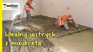 Posadzki mixokretem - spoiwo weberfloor FIBROCEM zastępujące cement