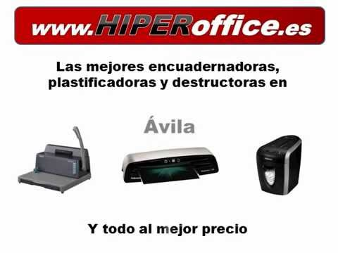 HiperOffice Avila Encuadernadoras, plastificadoras y destructoras