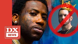 Gambar cover Gucci Mane Disses Eminem And Says He's Not Even Close To Being The King Of Rap