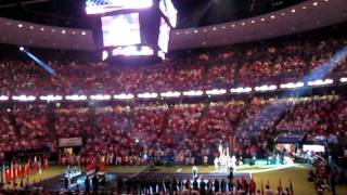 spain and usa national anthems Teal Collins davis cup 2011.MOV