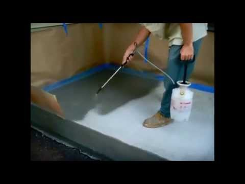 How to apply color to a Concrete floor Using Flow Method – www.SealGreen.com 800-997-3873