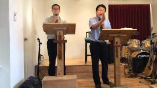 東京ハーベスト教会での午後の礼拝。神様からのメッセージ