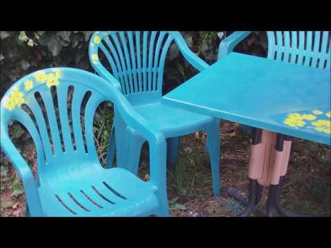 alte Gartenmöbel neu gestalten mit Sprühfarben - recycling upcycling