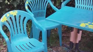 Alte Gartenmöbel Neu Gestalten Mit Sprühfarben   Recycling Upcycling
