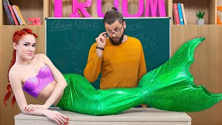 Mermaid at College! / 8 DIY Mermaid College Supplies