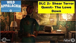 Fallout 76 Shear Terror DLC - The Lowe Down - Laundry Day - Find all clues in Secret Lab
