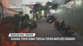 Suasana Terkini Rumah Terduga Teroris Polrestabes Surabaya