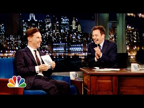Alan Rickman-off with Benedict Cumberbatch and Jimmy Fallon (Late Night with Jimmy Fallon) (видео)
