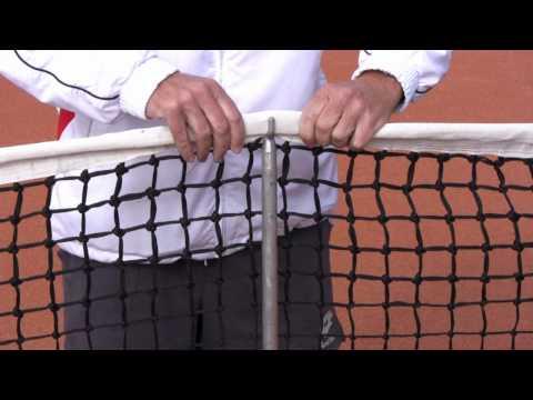 Tennis Platz & Geräte Pflege Teil 2: Das Tennis Netz.. Netzhöhe und Positionierung der Netzstangen