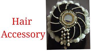 How To Make Bridal Hair Accessories | Hair Bun Making | Bridal Juda | Hair Accessory | Hair Brooch