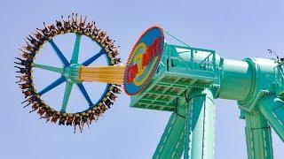 CraZanity Giant Frisbee Ride Onride POV Six Flags Magic Mountain 2018