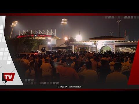 المئات من جماهير الزمالك يحتشدون أمام بوابة بتروسبورت للاحتفال ببطولة الدوري
