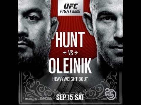 UFC Fight Night Moscow: Hunt vs. Oleinik Main Card LIVE Sat. at 2 p.m. ET on FN Canada