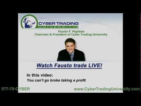 Learn to Day Trade LIVE – Taking a profit
