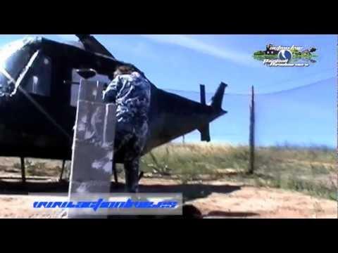 Escenario Paintball Madrid Base Militar helicóptero