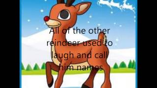 "Chipmunks singing ""Rudolph The Red Nosed Reindeer"" with Lyrics"