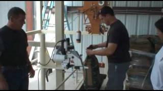 Bagging Corn with Bag Filling and Sewing System