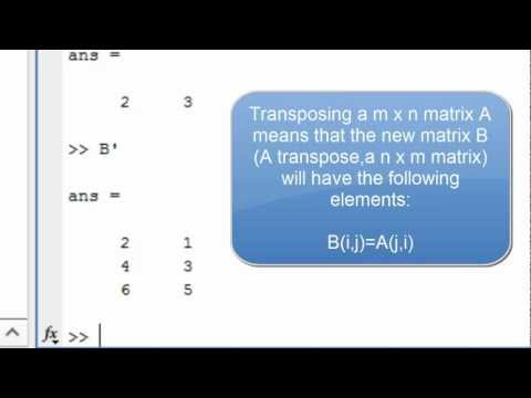 Working with matrices in MATLAB – Tutorial – IT Lectures
