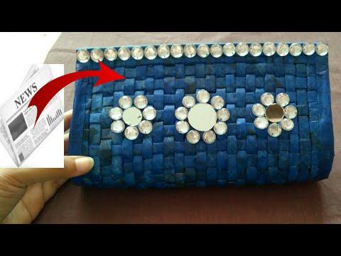 Newspaper clutch | Newspaper hand bag | Women's handbags I How to make a newspaper purse | HMA##051