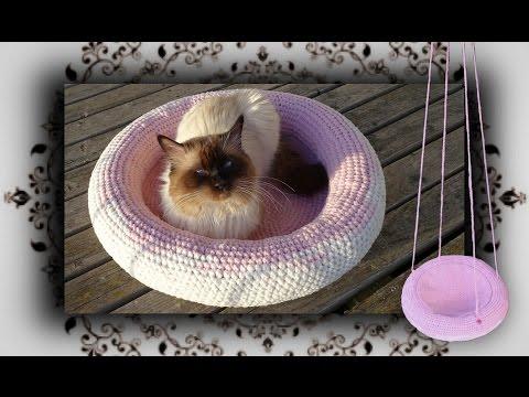 DIY 😻 4 in 1 Häkel Körbchen, Liegemulde, Schaukel für Katzen & Hunde | Crochet for Cat
