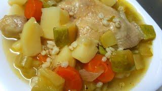 מתכון למרק עוף עם גריסים וירקות