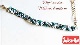 Diy Beaded Bracelet /flat Square Stitch Bracelet Without Bead Loom/how To Make A Beaded Bracelet