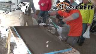 Concrete Countertop Spraying Backer Mix