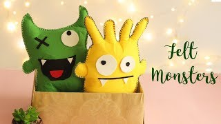 DIY Felt Monsters |  Felt Crafts