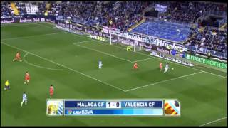 preview picture of video 'Malaga 1 : 0 Valencia'