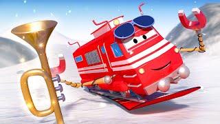 Vláčky pro děti - Vlak snowboarďák - Vláček Troy ve Městě Aut