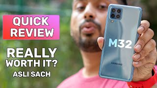 Samsung M32 Unboxing and Review   Hindi