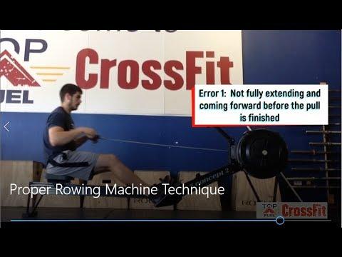 Proper Rowing Machine Technique